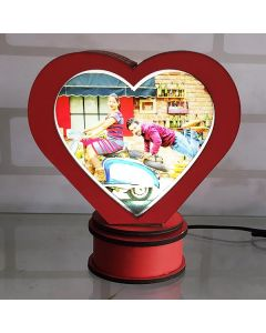 Heart rotating lamp gift - Red color