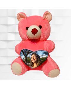Customized teddy bear 16 inch height with heart shape customization