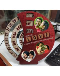 Love photo frame with calendar